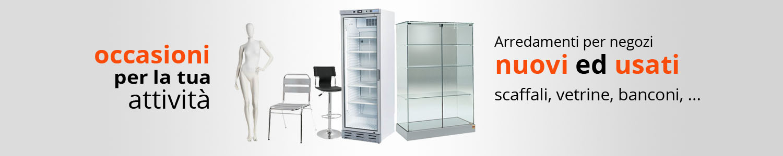 Arredamenti per negozi nuovi e usati occasioni arredi for Arredamenti per pub usati