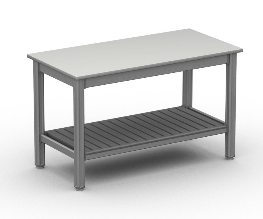 Tavolo da lavoro alluminio con piano polietilene per for Arredi bar usati
